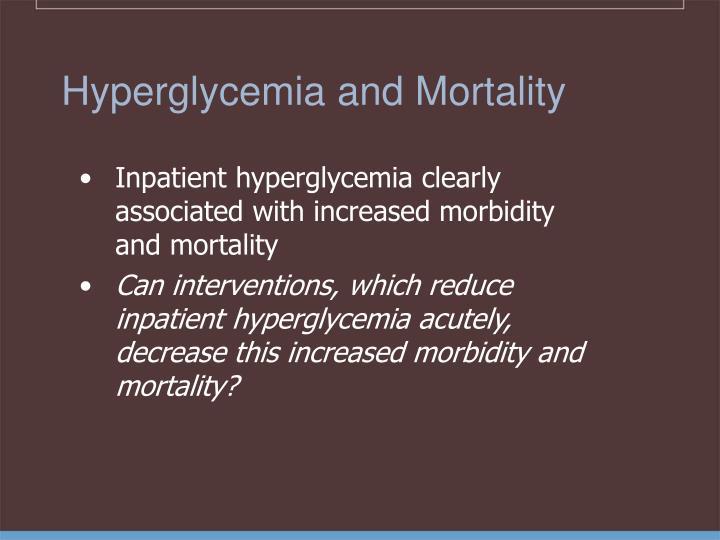 Hyperglycemia and Mortality