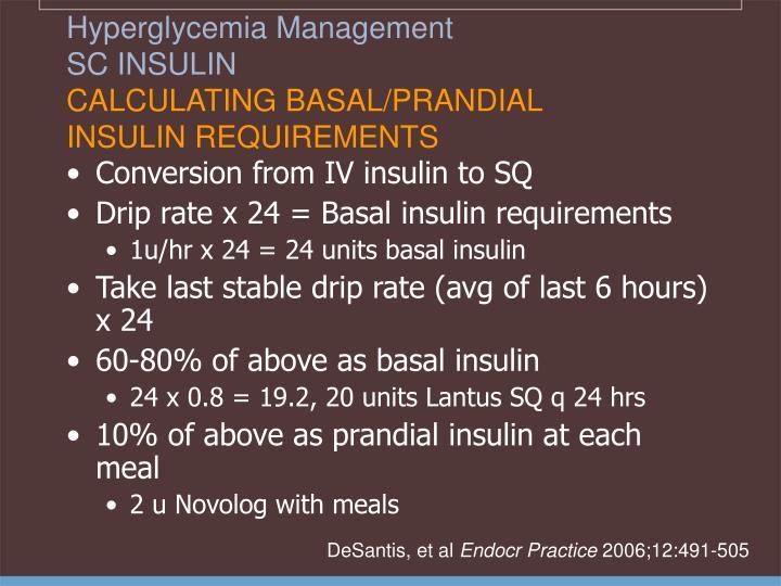 Hyperglycemia Management