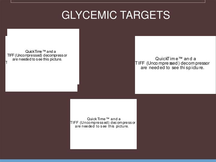 GLYCEMIC TARGETS