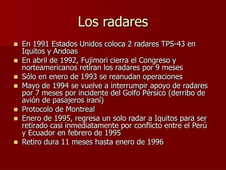 Los radares