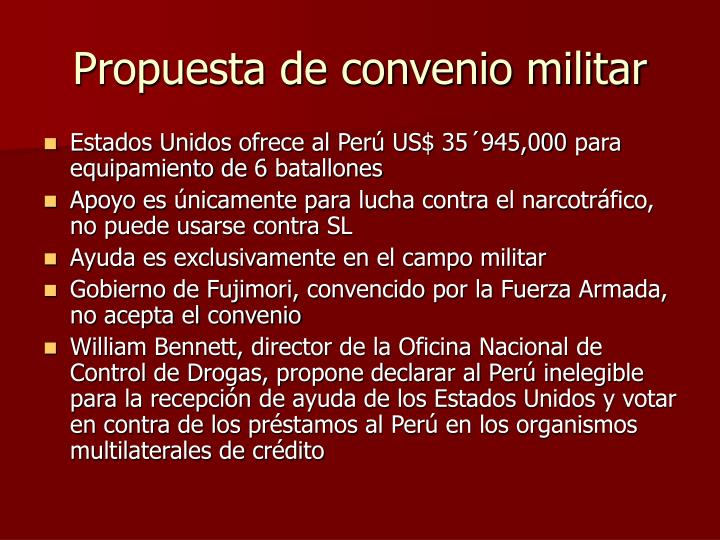 Propuesta de convenio militar