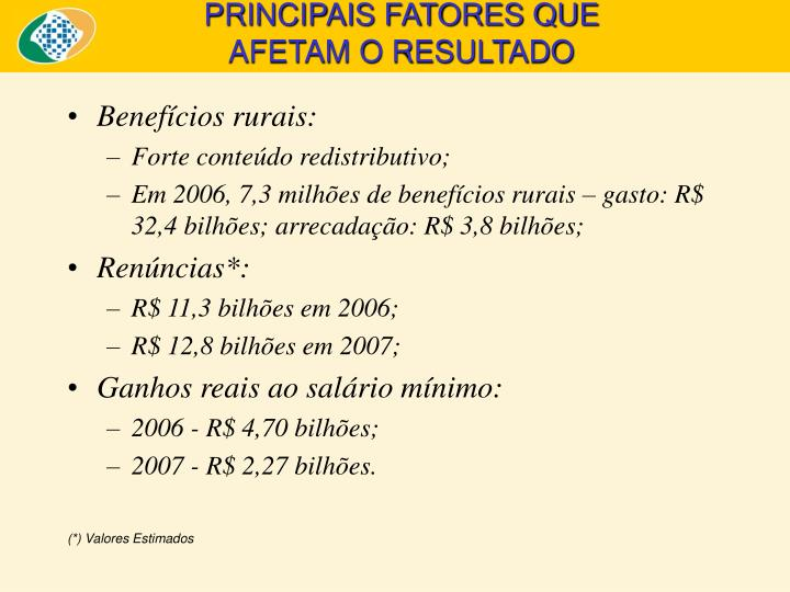 Benefícios rurais: