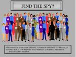find the spy