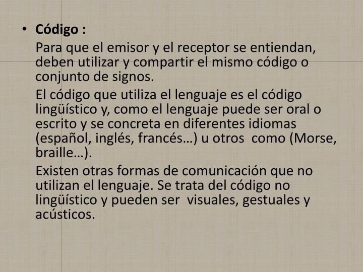 Código :