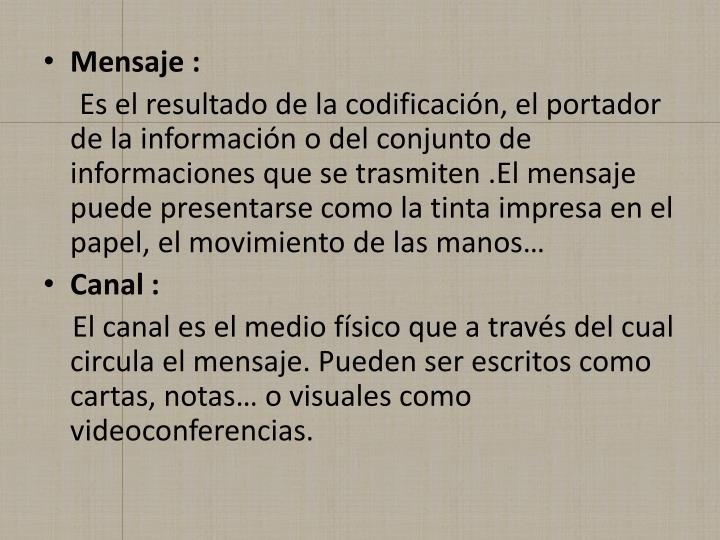 Mensaje :