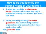 how to do you identify the training needs of your teams1