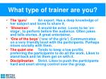 what type of trainer are you