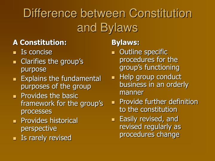 A Constitution: