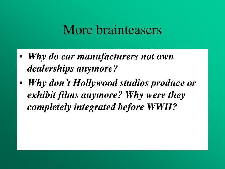 More brainteasers