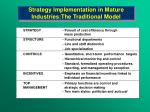 strategy implementation in mature industries the traditional model