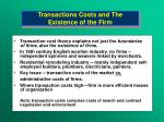 transactions costs and the existence of the firm