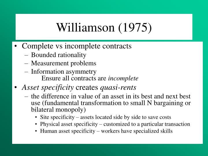 Williamson (1975)