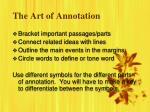the art of annotation1