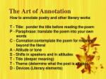 the art of annotation3