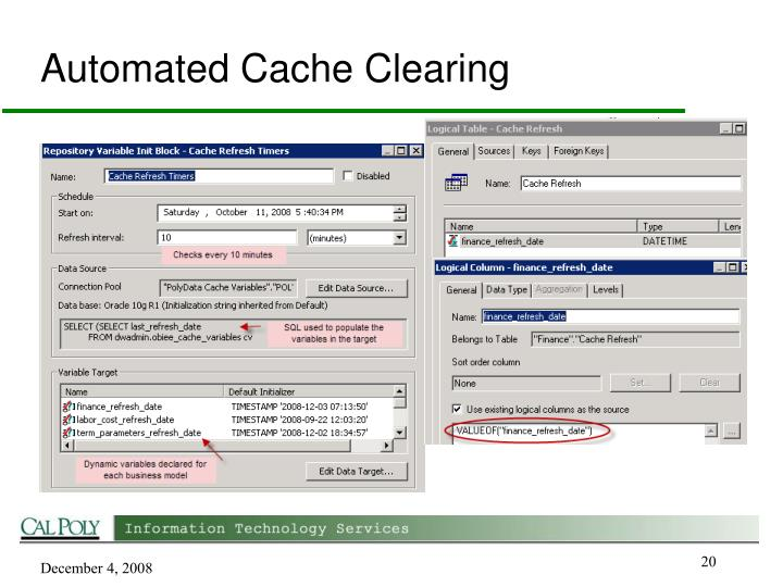 Automated Cache Clearing