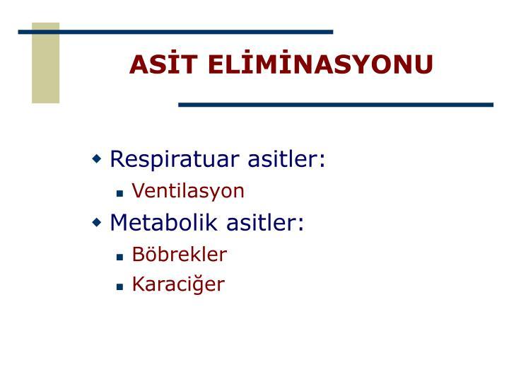 ASİT ELİMİNASYONU