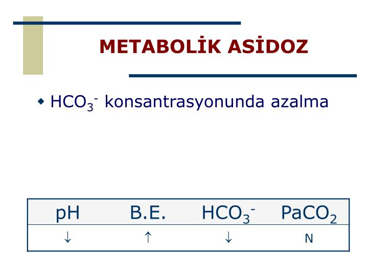 METABOLİK ASİDOZ