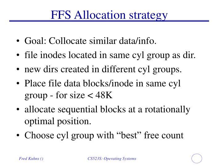 FFS Allocation strategy
