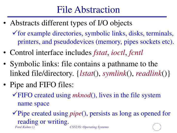 File Abstraction