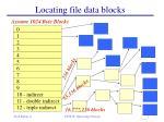 locating file data blocks