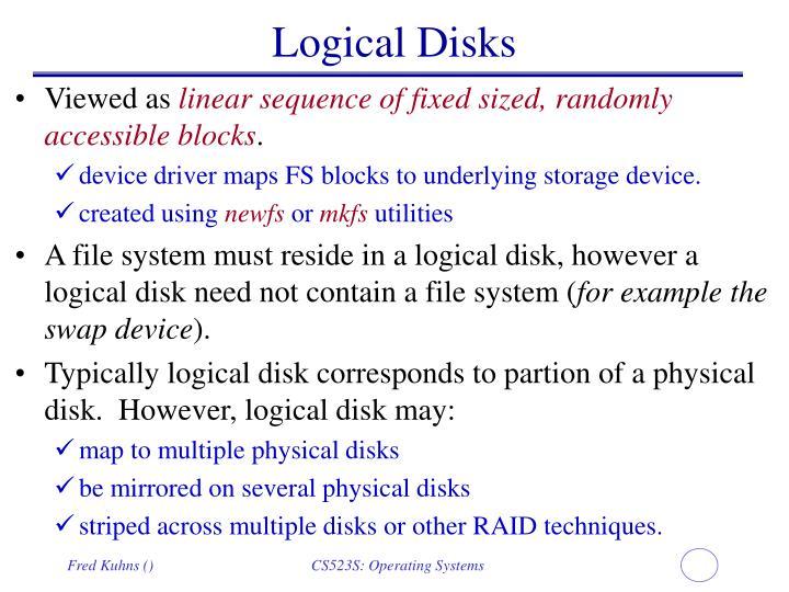 Logical Disks