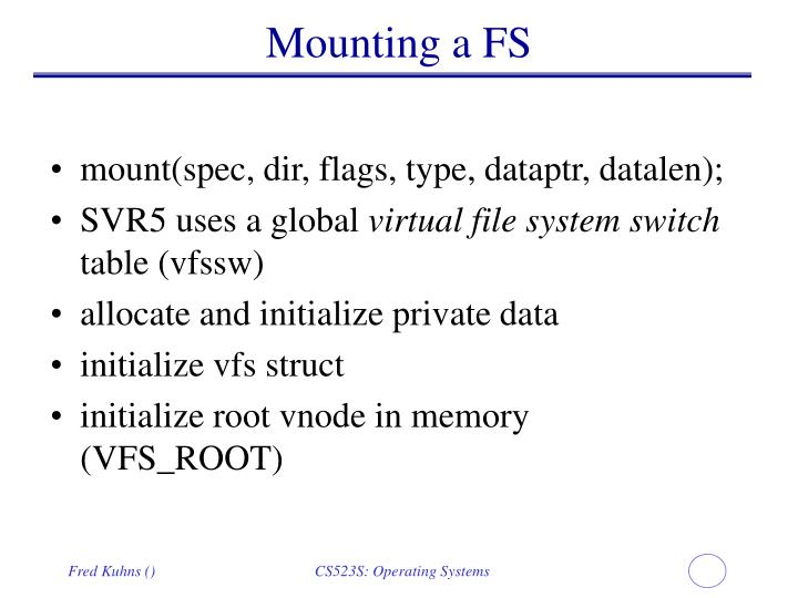 Mounting a FS