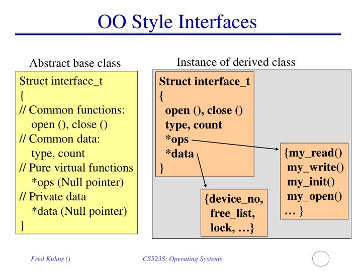 OO Style Interfaces