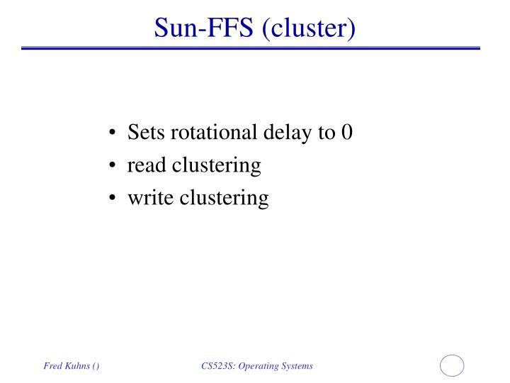 Sun-FFS (cluster)