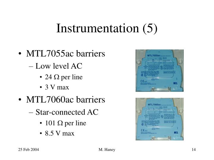 Instrumentation (5)