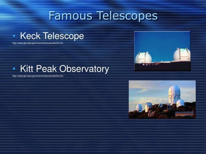 Famous Telescopes
