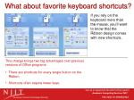 what about favorite keyboard shortcuts