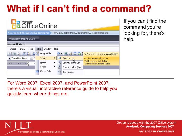 If you can't find the command you're looking for, there's help.