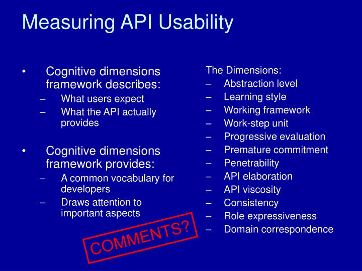Cognitive dimensions framework describes: