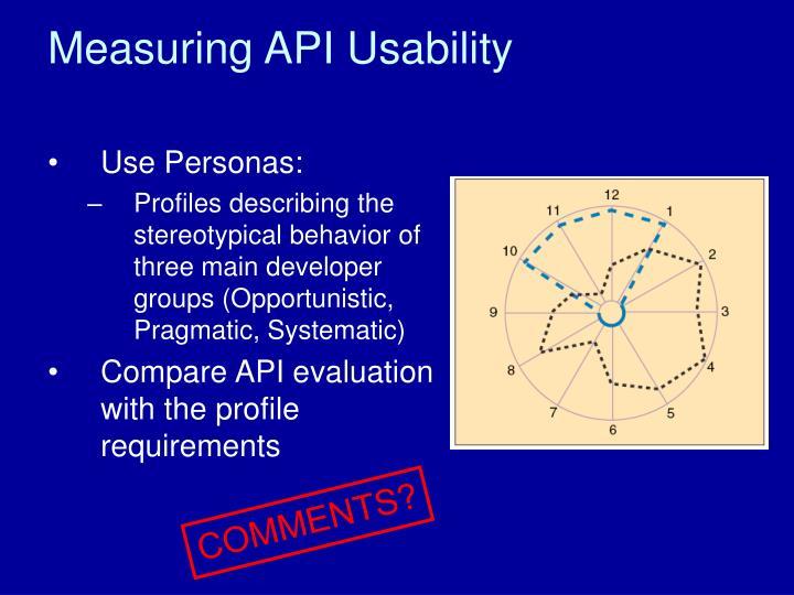 Measuring API Usability