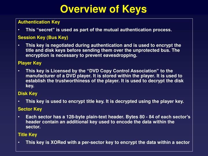 Overview of Keys