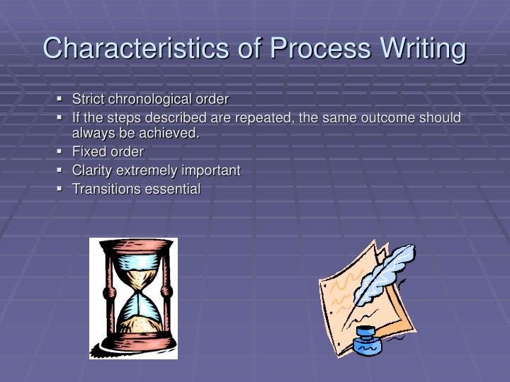 Characteristics of Process Writing