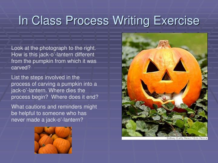In Class Process Writing Exercise
