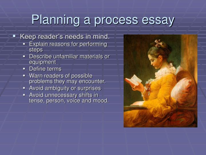 Planning a process essay