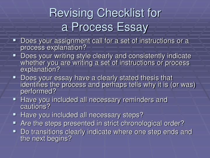 Revising Checklist for