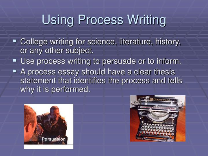 Using Process Writing