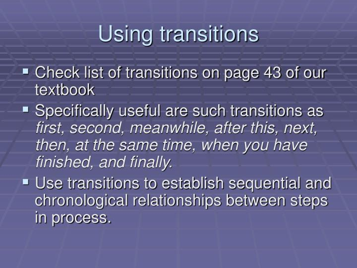 Using transitions