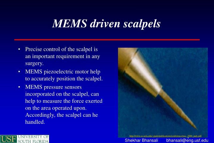 MEMS driven scalpels