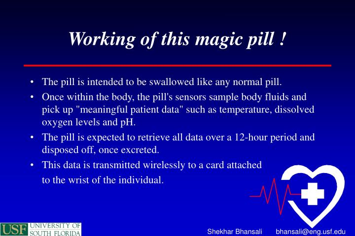 Working of this magic pill !