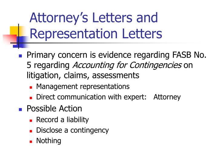 Attorney's Letters and