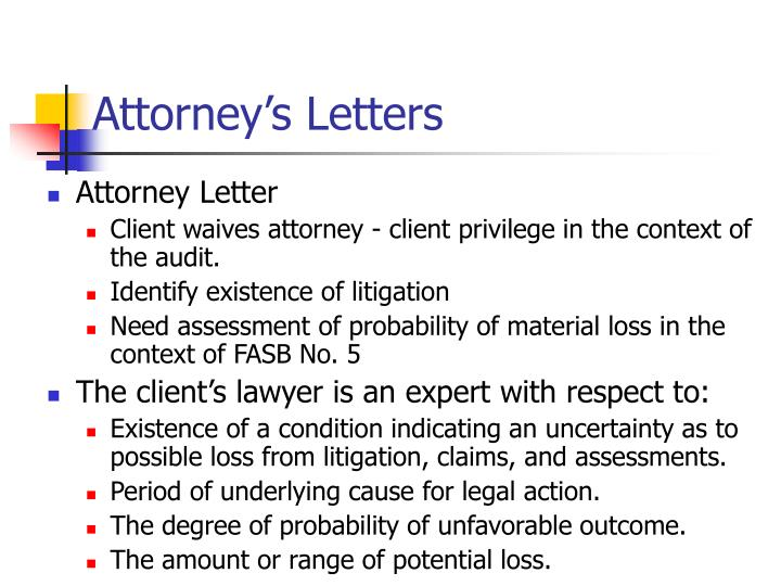 Attorney's Letters
