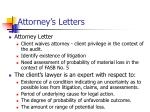 attorney s letters