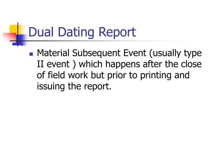 Dual Dating Report