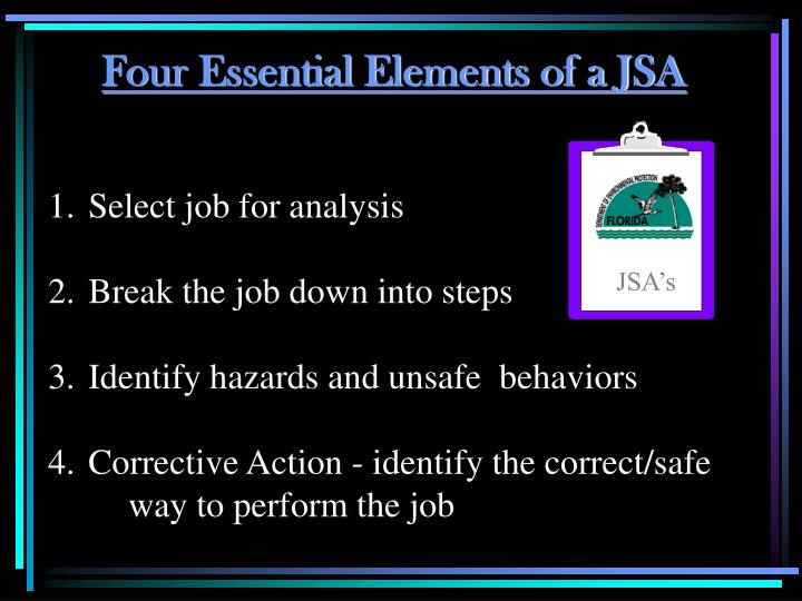 Four Essential Elements of a JSA