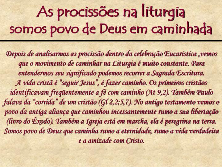 As procissões na liturgia