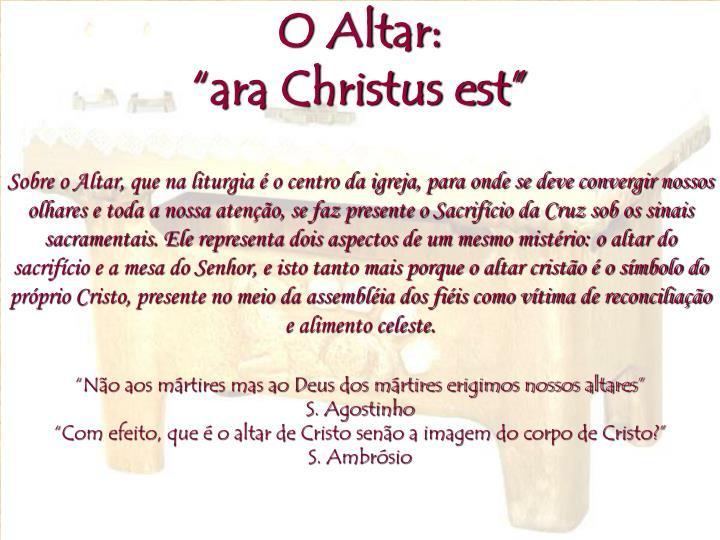O Altar: